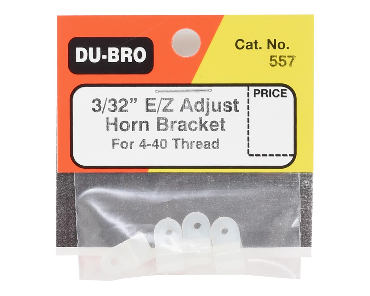 "DuBro E/Z Adjustable Horn Bracket (4) (3/32"")"