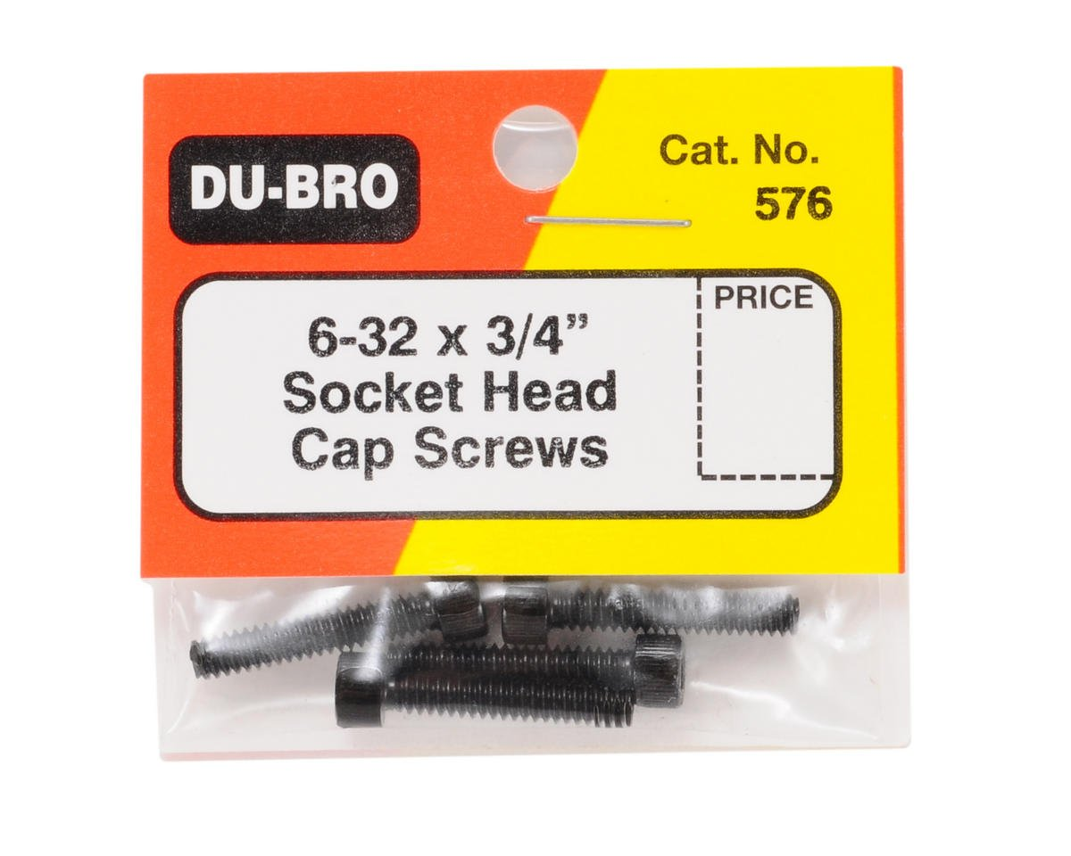 "Du-Bro 6-32 x 3/4"" Socket Cap Screws (4)"