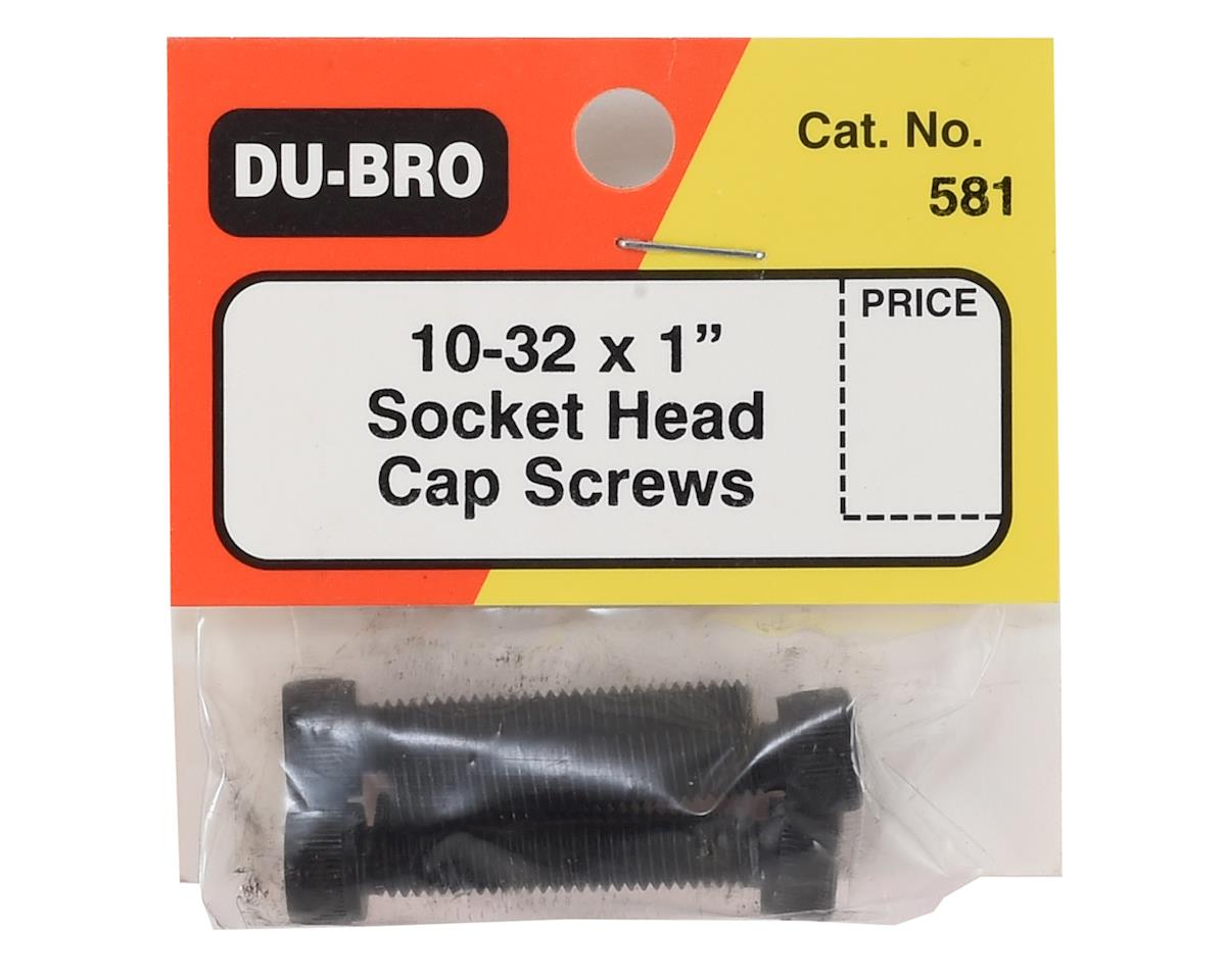 "10-32 x 1"" Socket Head Cap Screws (4) by DuBro"