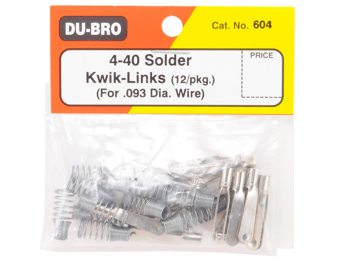 DuBro 4-40 Solder Kwik-Links (12)