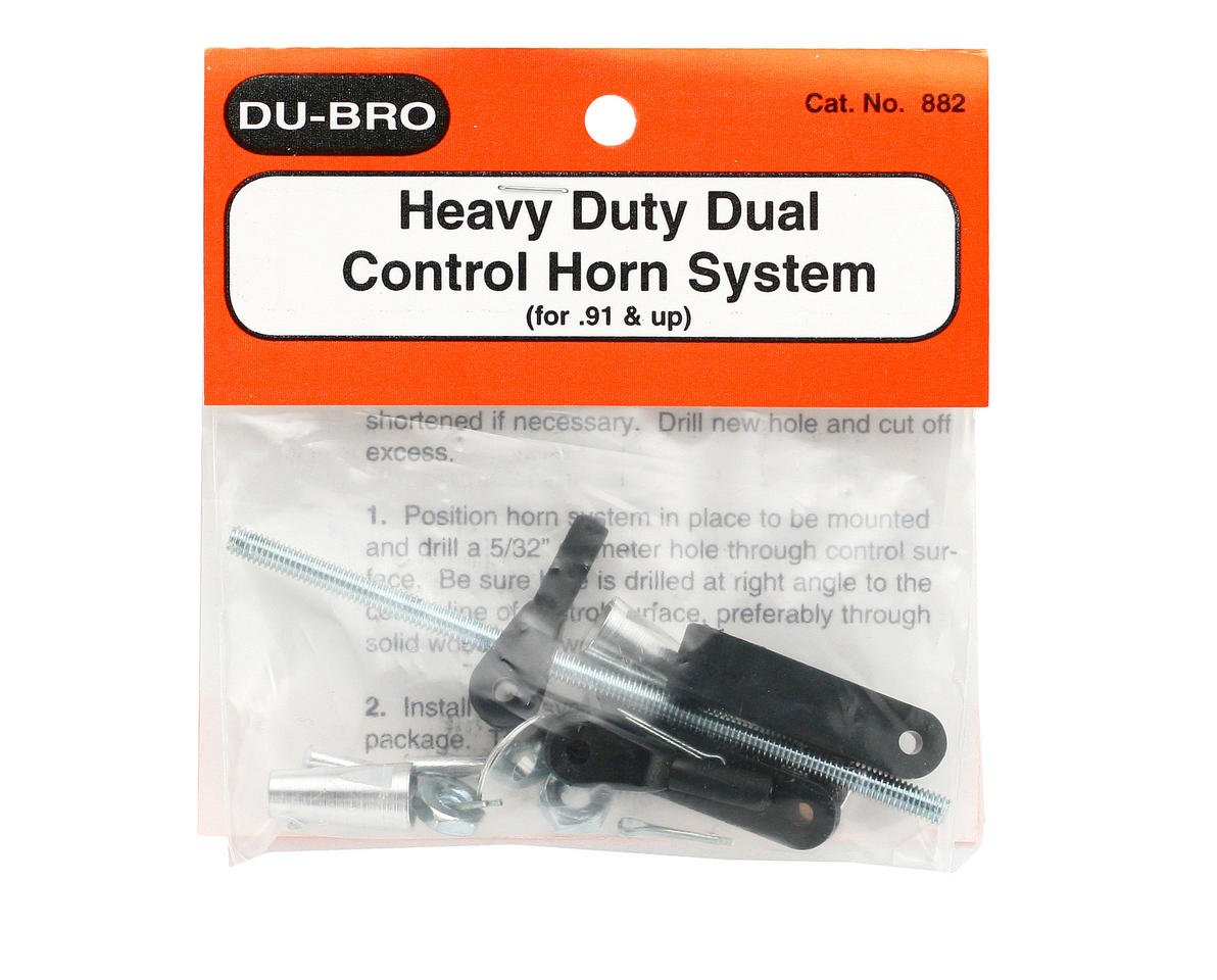 DuBro Heavy Duty Dual Control Horn System (.91 & Up)