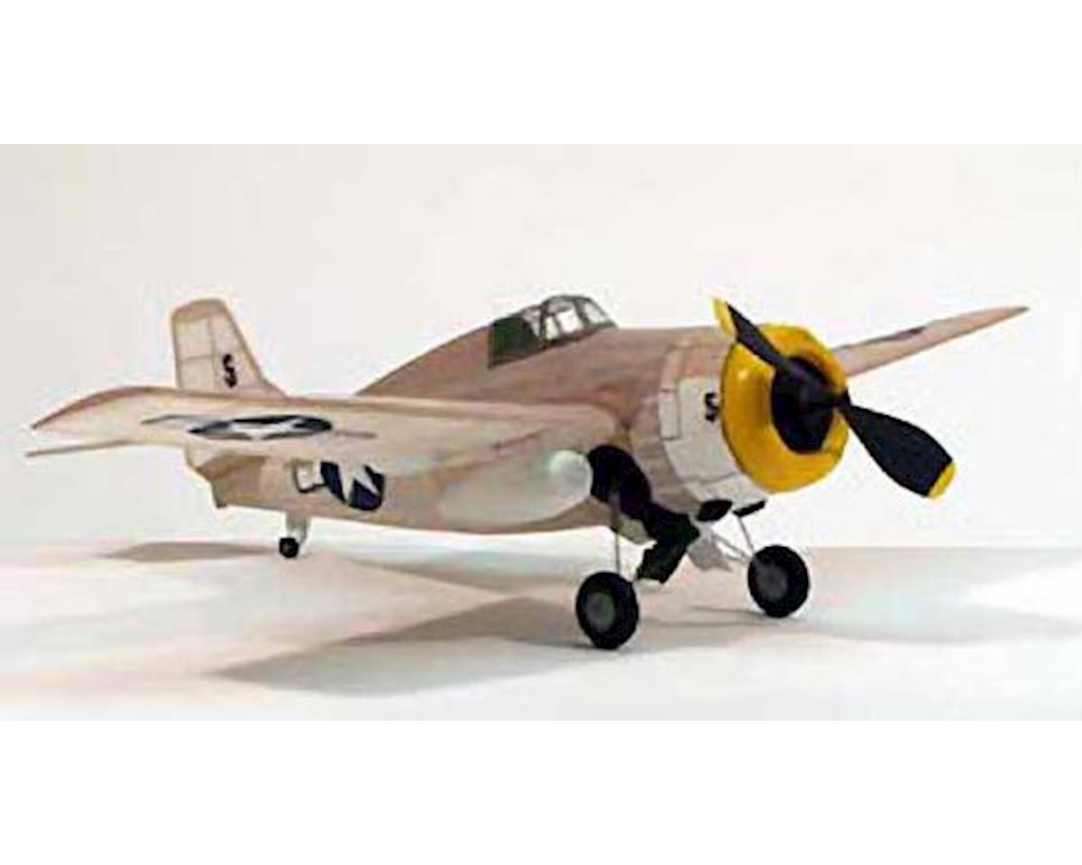 "F-4F Wildcat,17.5"" Rubber Power by Dumas Boats"