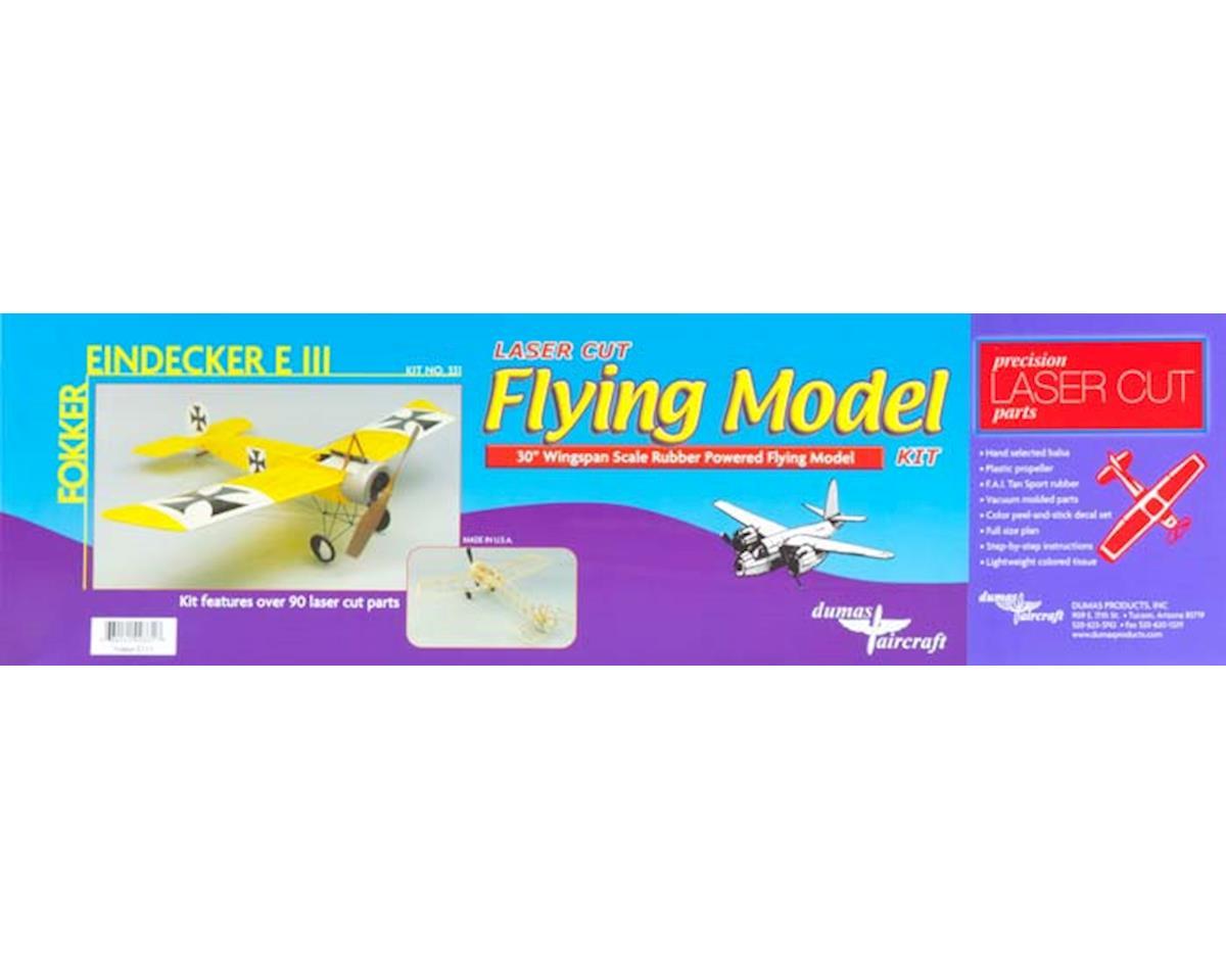 "Dumas Boats 30"" Fokker Eindecker EIII Aircraft Kit"
