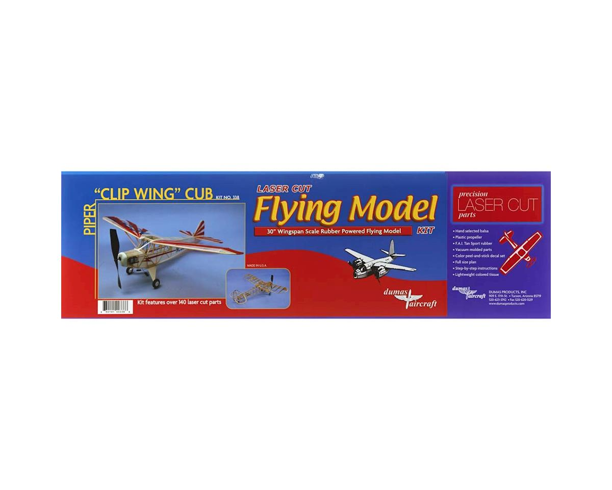 "Dumas Boats 338 Piper Clip Wing Cub 30"" Rubber Band Powered"