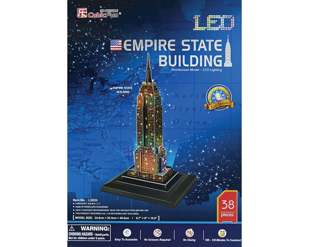 Daron Worldwide Trading 503H 3D LED Empire State Building 38pc Puzzle