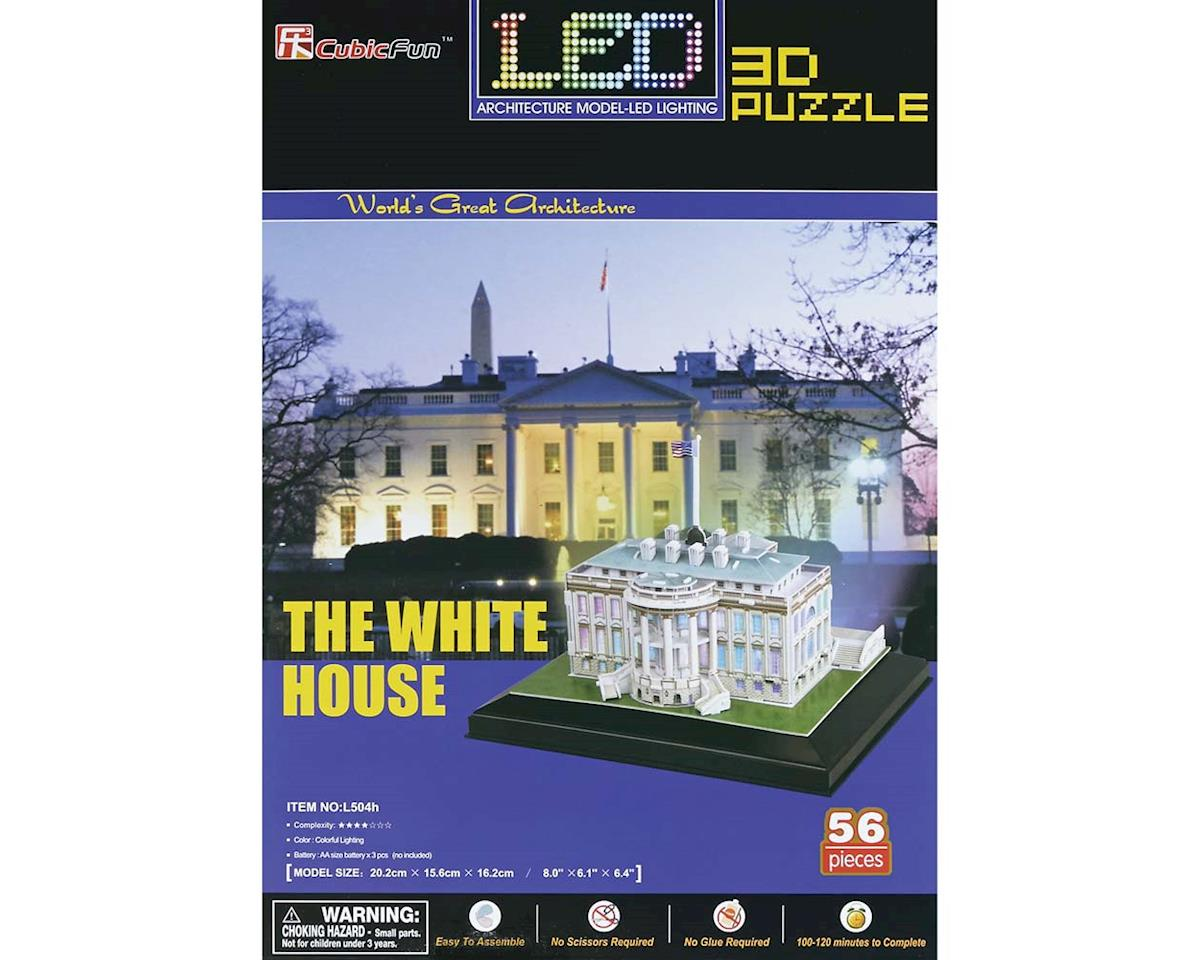 Daron Worldwide Trading 504H 3D LED White House 56pc Puzzle