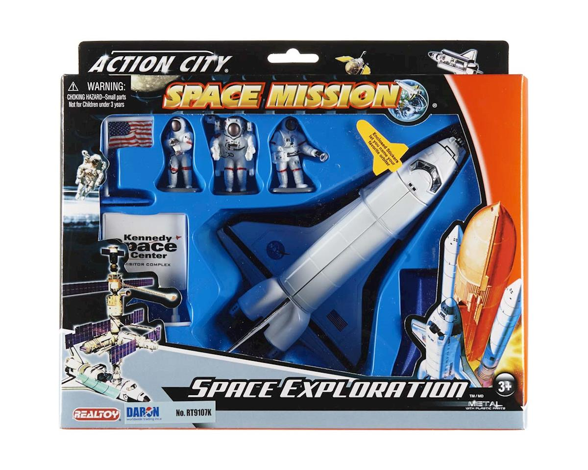 Daron Worldwide Trading Space Shuttle w/3 Astronauts NASA 3D/4D