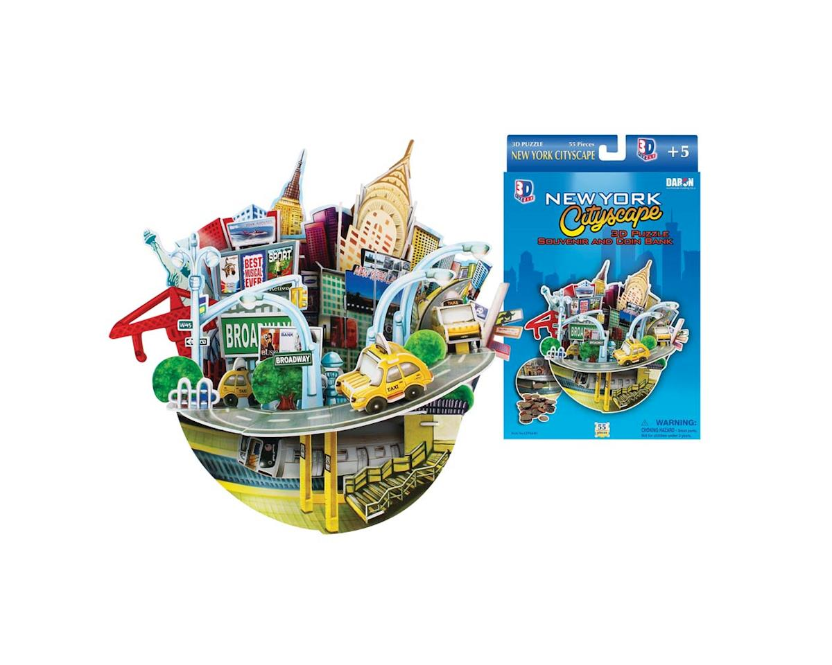 NY Cityscape 3D Puzzle/Bank 55pcs by Daron Worldwide Trading