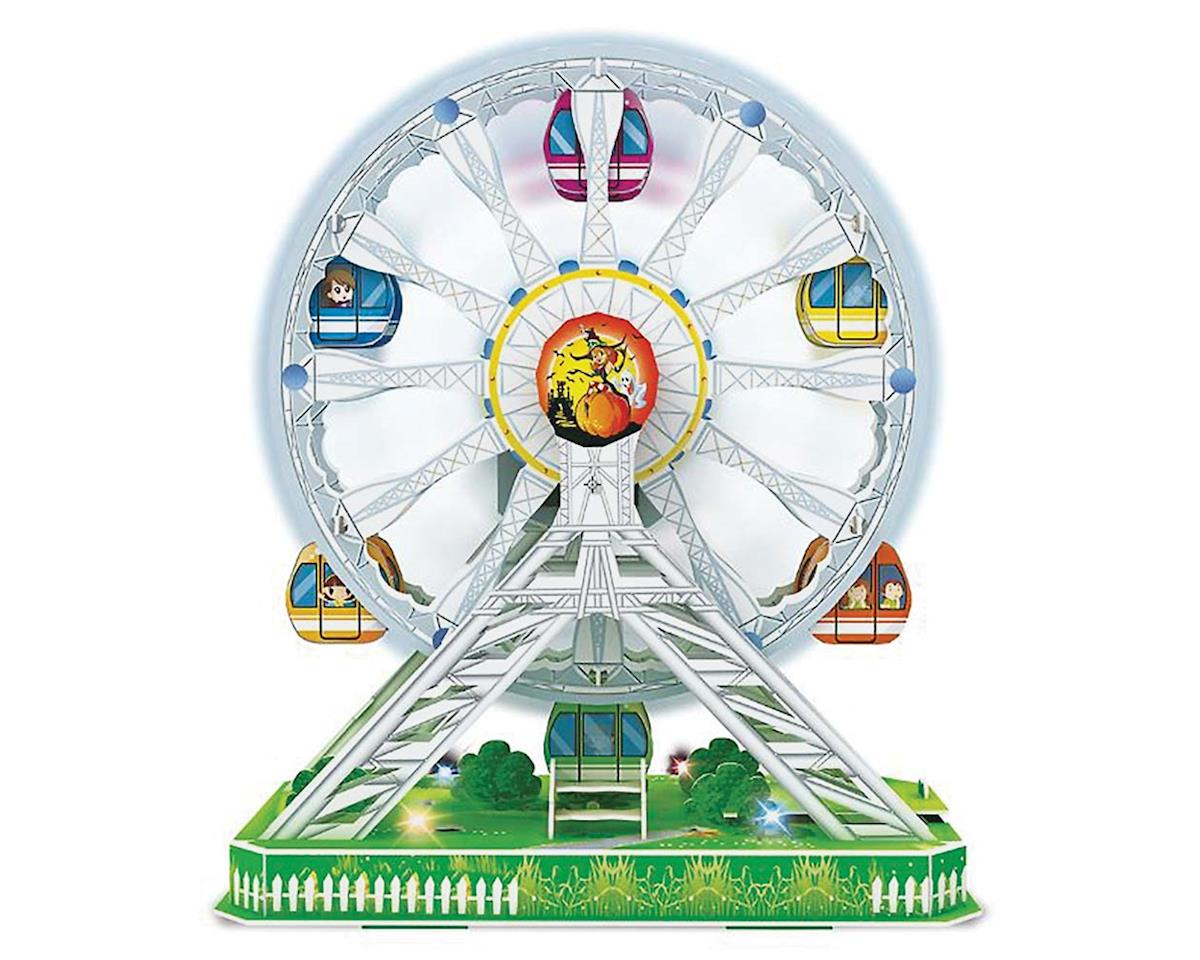 Daron Worldwide Trading CHA127 3D LED Ferris Wheel Puzzle 77pcs