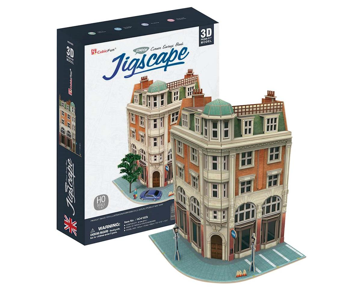 JigScape HO 3D Corner Savings Bank 94pcs