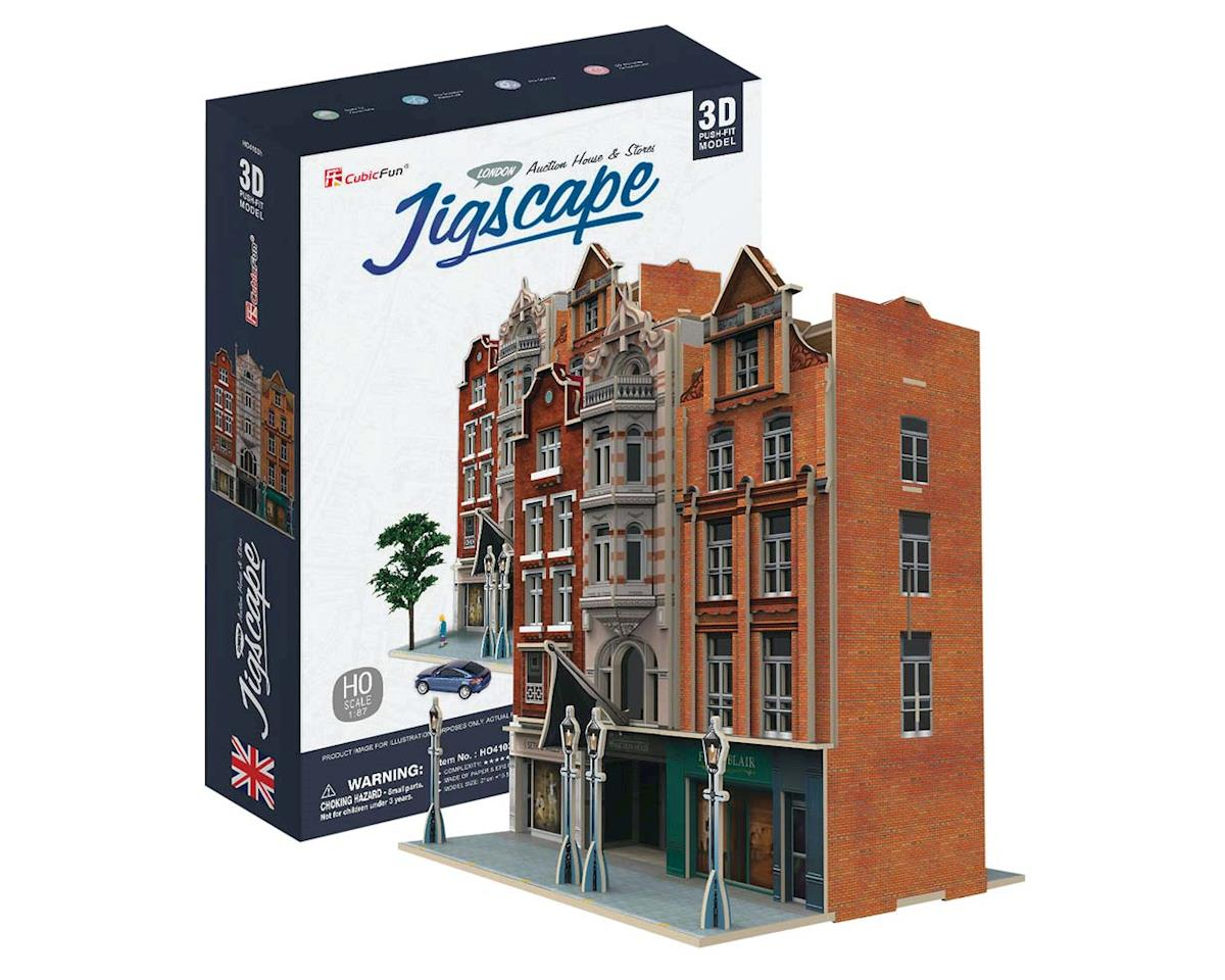 Daron Worldwide Trading HO4103H JigScape HO 3D Auction House/Stores 93pcs