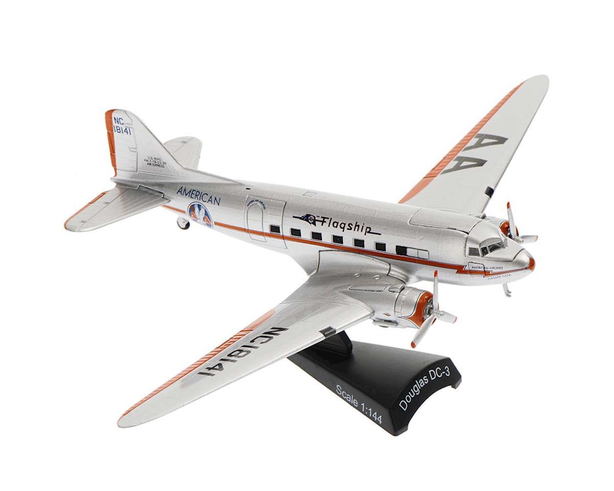 Daron Worldwide Trading PS5559-2 1/144 American DC-3 Flagship Tulsa