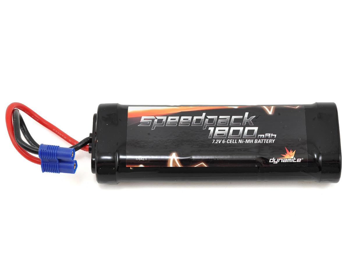 Speedpack  6-Cell Ni-MH Flat Battery Pack w/EC3 (7.2V/1800mAh) by Dynamite
