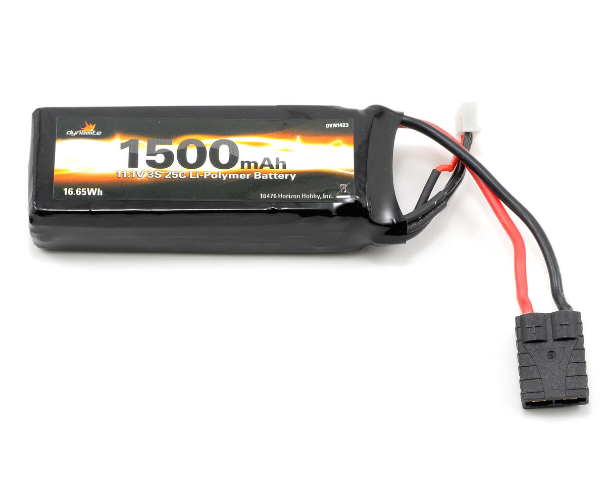 Dynamite 3S LiPo 25C Battery Pack (11.1V/1500mAh) (Traxxas 1/16 Slash 1/16)