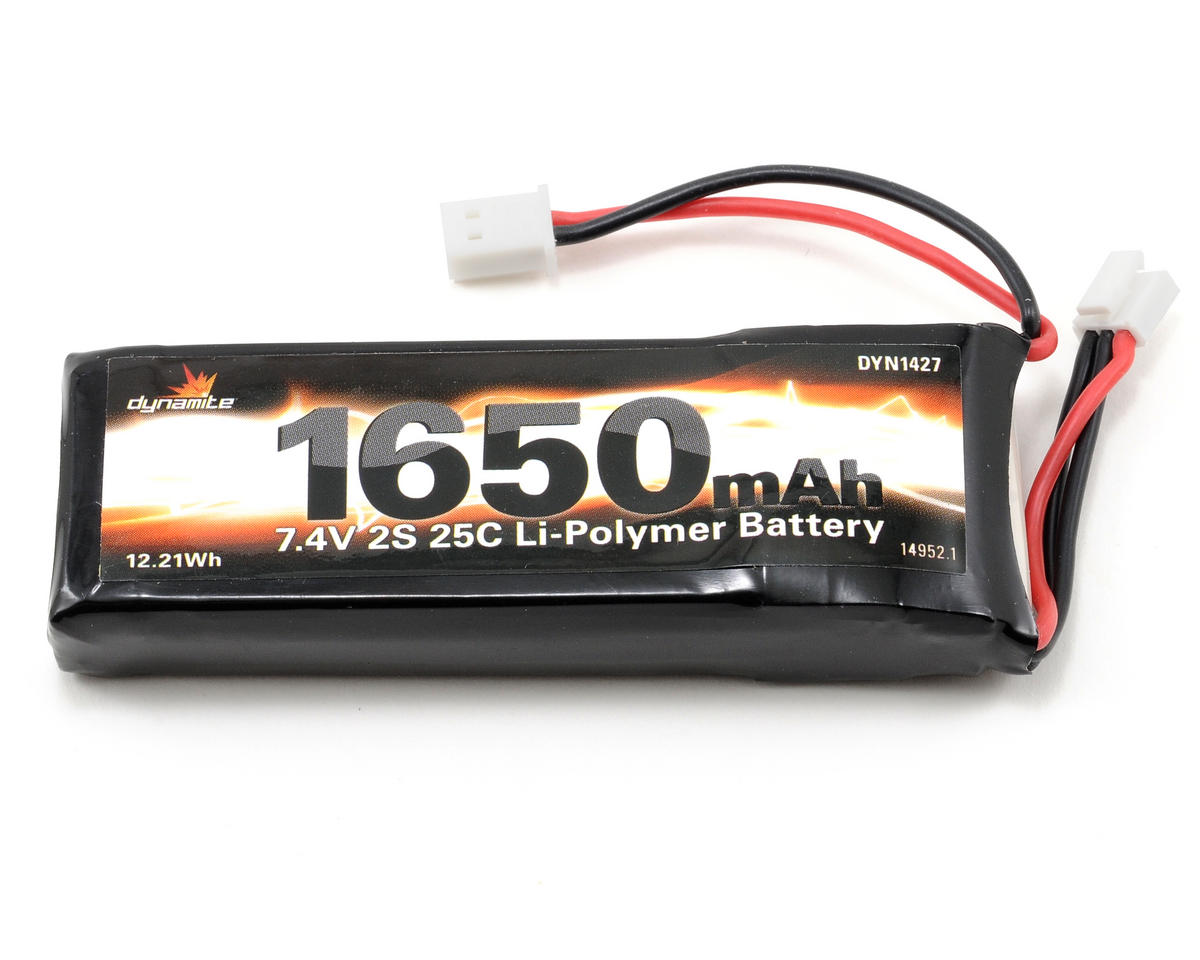 Dynamite 2S LiPo 25C Battery Pack (7.4V/1650mAh)