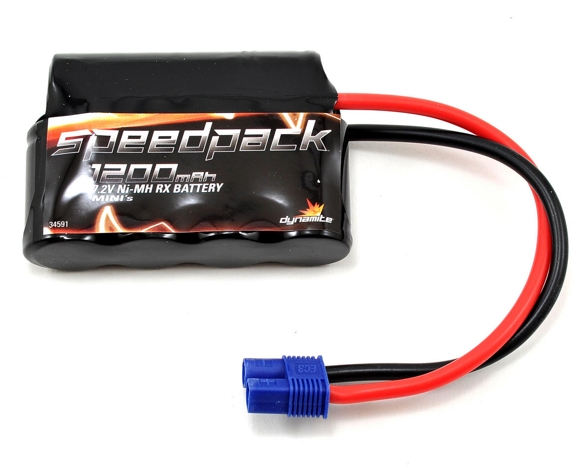 6-Cell 7.2V NiMH Battery Pack w/EC3 Connector (1200mAh) by Dynamite