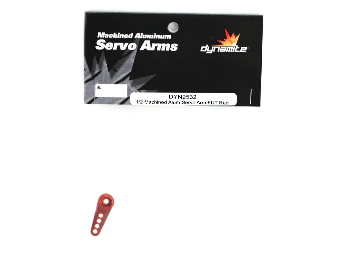 Machined Aluminum Futaba Servo Horn (Red) by Dynamite