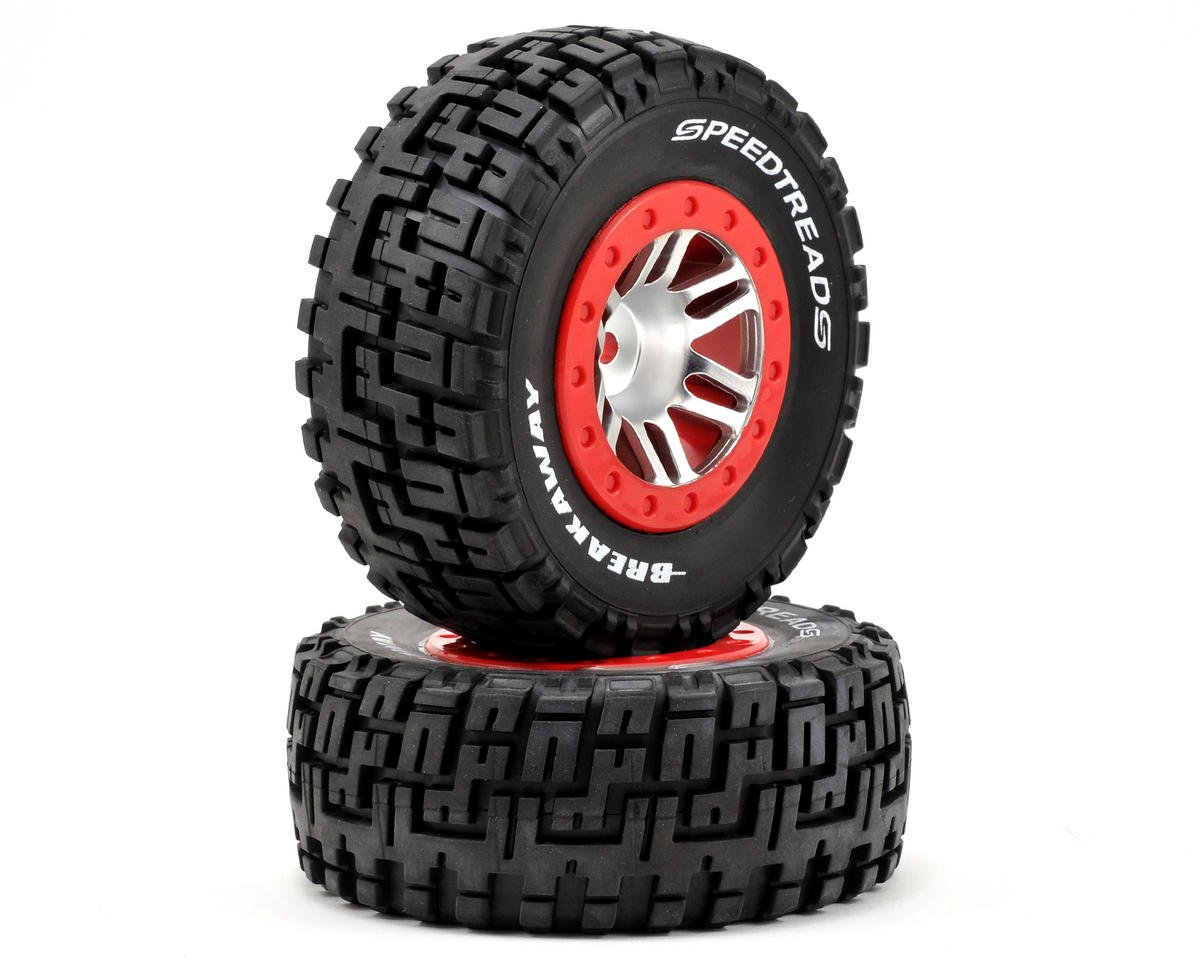 Dynamite 12mm Hex Speed Treads Breakaway Pre-Mounted Tire (2) (SC6/Slash/Blitz) (Kyosho Ultima DB)