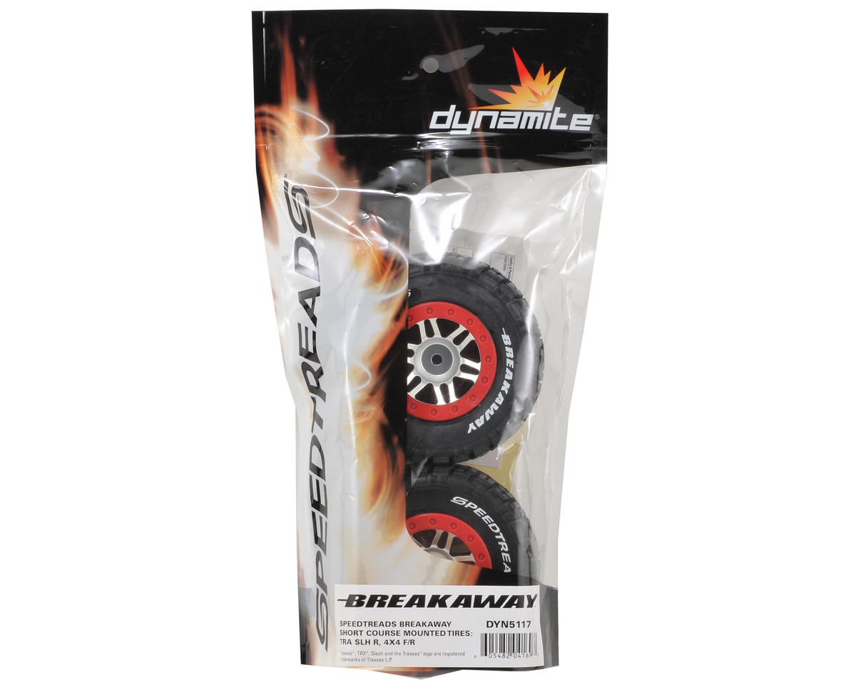 Dynamite 12mm Hex Speed Treads Breakaway Pre-Mounted Tire (2) (SC6/Slash/Blitz)