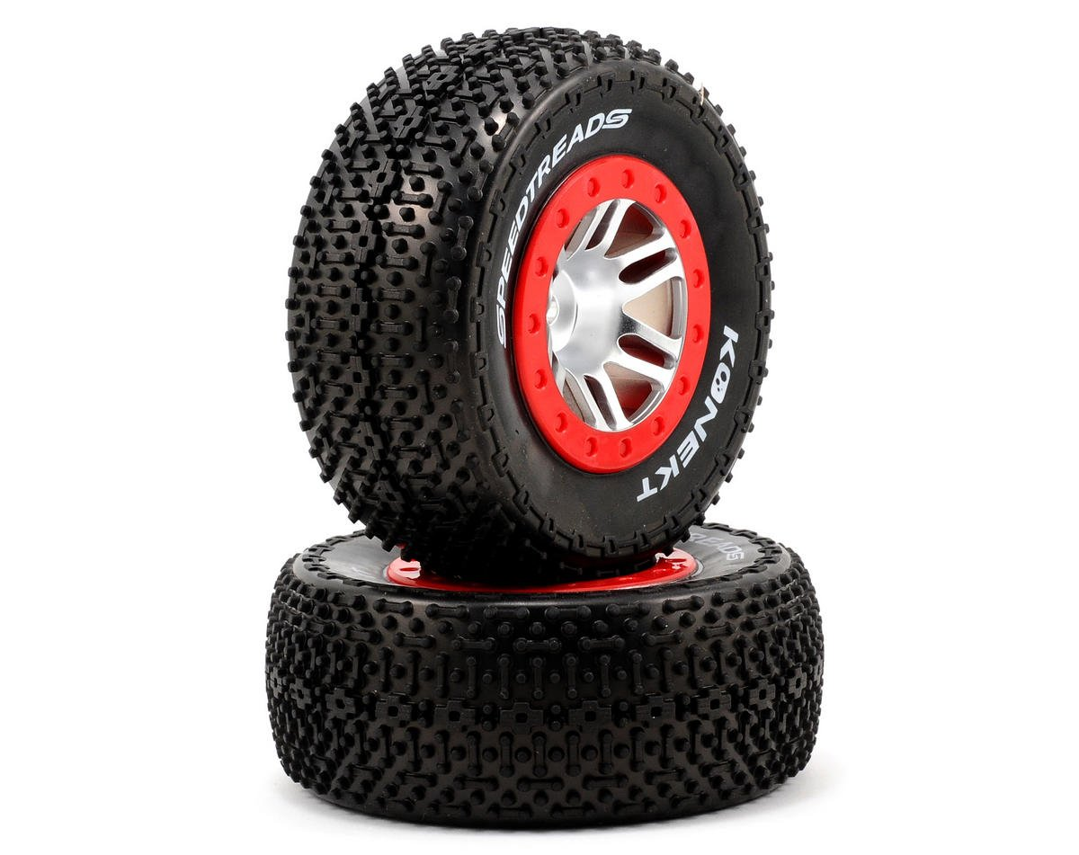 Dynamite 12mm Hex Speed Treads Konekt Pre-Mounted Tire Set (2) (Slash Rear) (OFNA Jammin SCRT 10 Nitro)