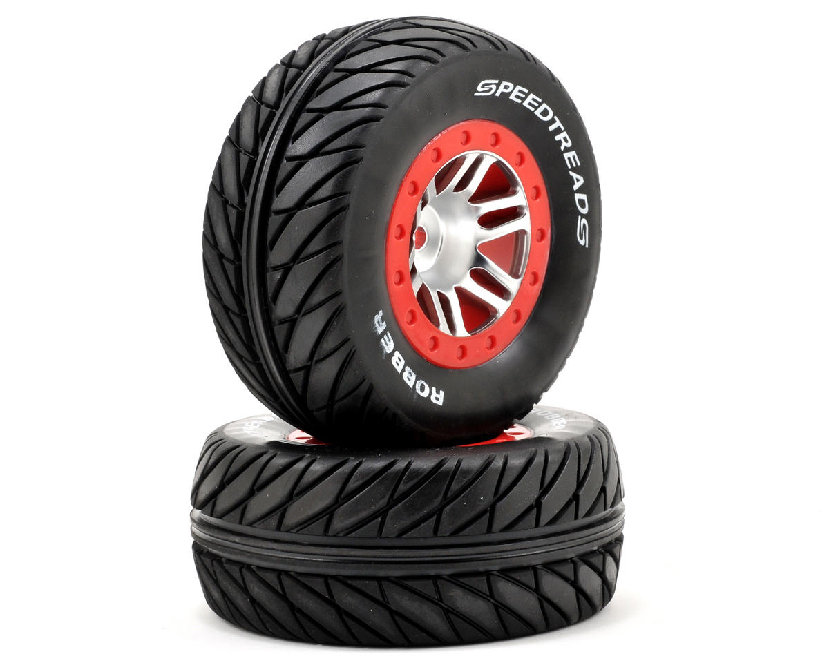 Dynamite 12mm Hex Speedtreads Robber Pre-Mounted Tire Set (2) (SC6/Slash/Blitz) (Kyosho Ultima SC6)