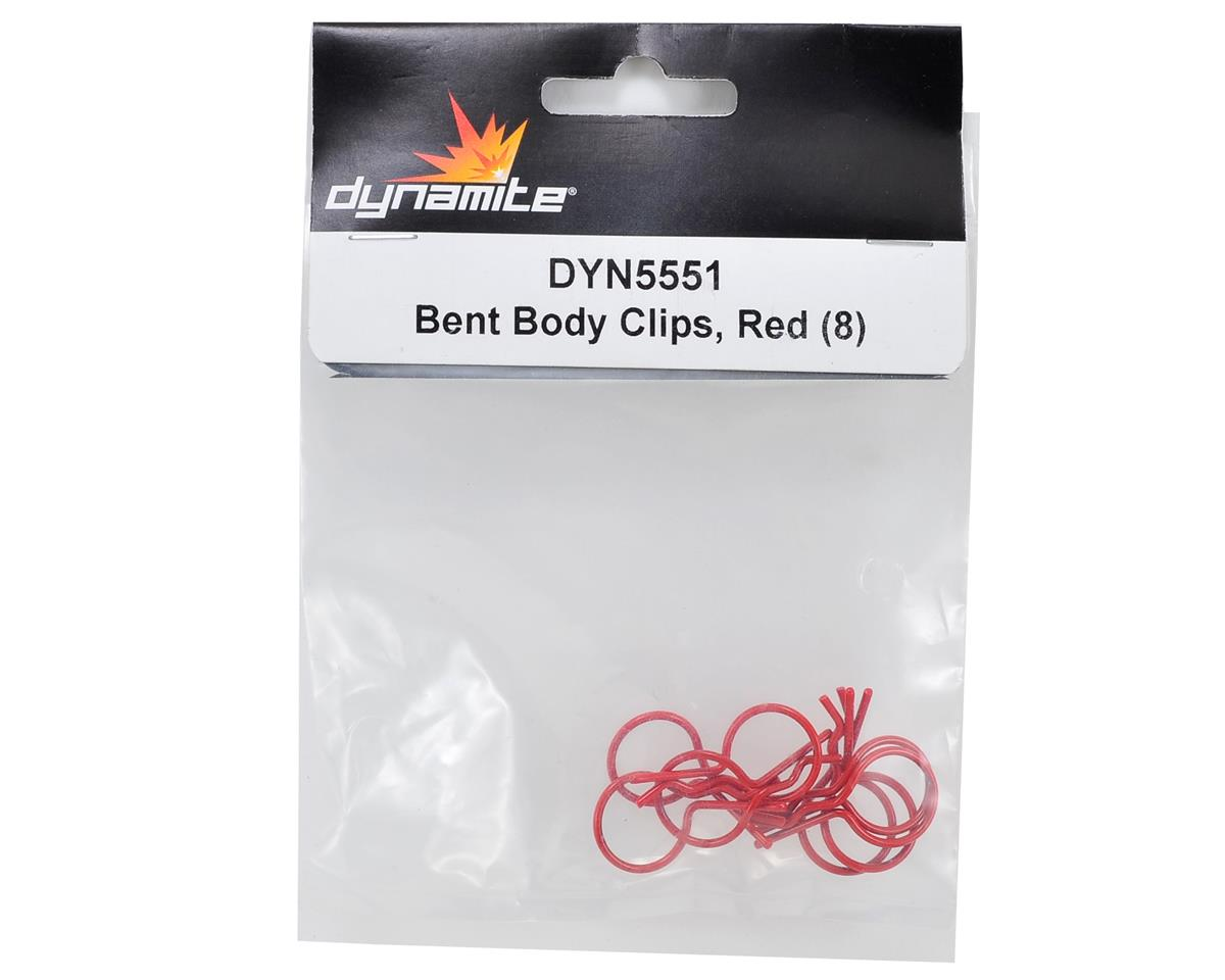 Dynamite Bent Body Clips (Red) (8)