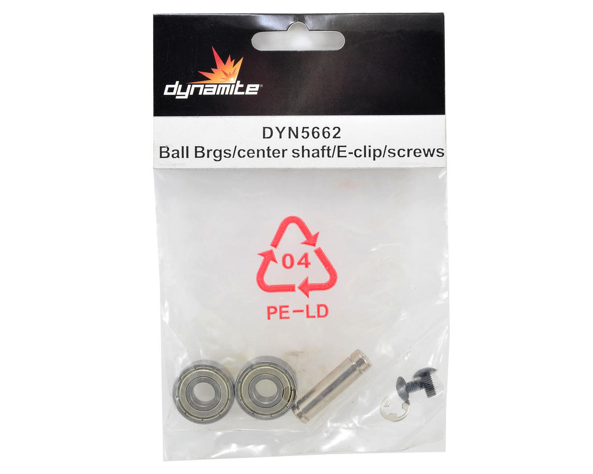 Dynamite Ball Bearing/Center Shaft/E-Clip & Screw Set