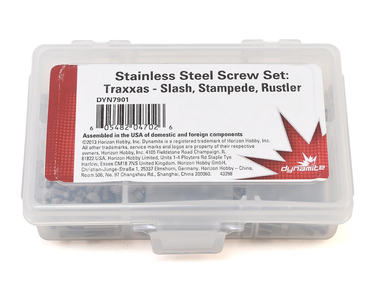 Slash, Stampede, Rustler, Bandit Stainless Steel Screw Set (177) by Dynamite