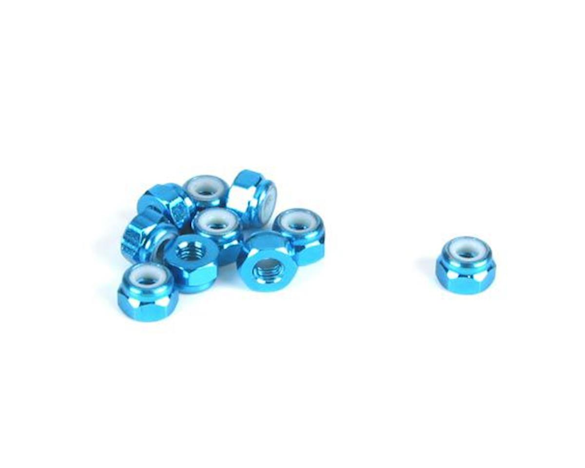 Dynamite 3mm Aluminum Lock Nut, Blue (10)