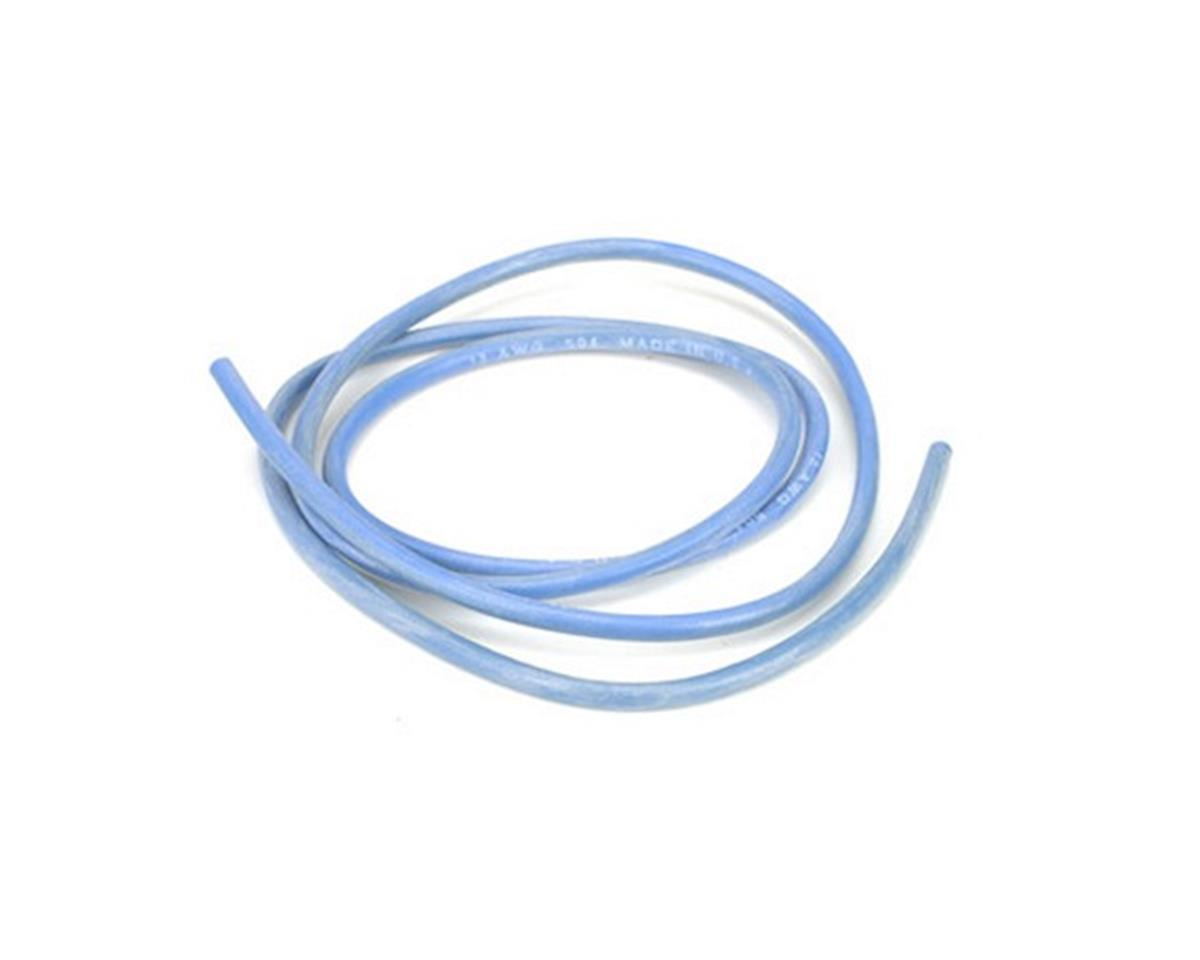 13AWG Silicone Wire 3', Blue