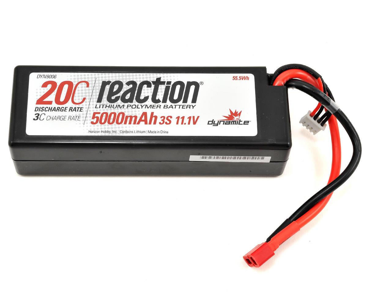 Dynamite Reaction 3S 20C LiPo Hard Case w/Deans Plug (11.1V/5000mAh)