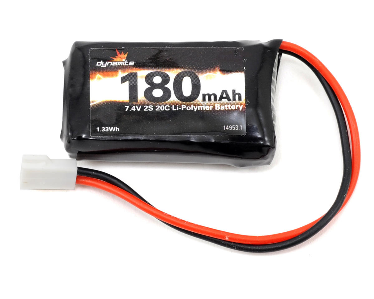 Dynamite 2S LiPo 20C Battery Pack (7.4V/180mAh)