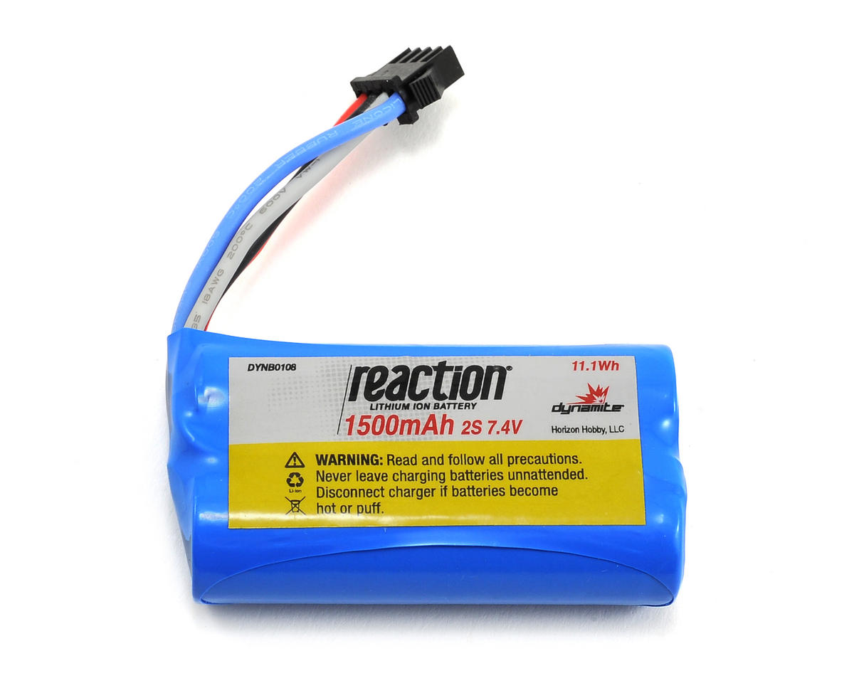 Dynamite 2S Li-Ion Battery (7.4V/1500mAh) (Pro Boat React 17)