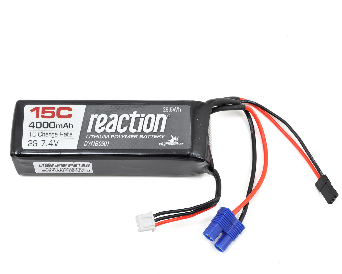 2S 15C 1/5 Scale LiPo Receiver Battery (7.4V/4000mAh) by Dynamite