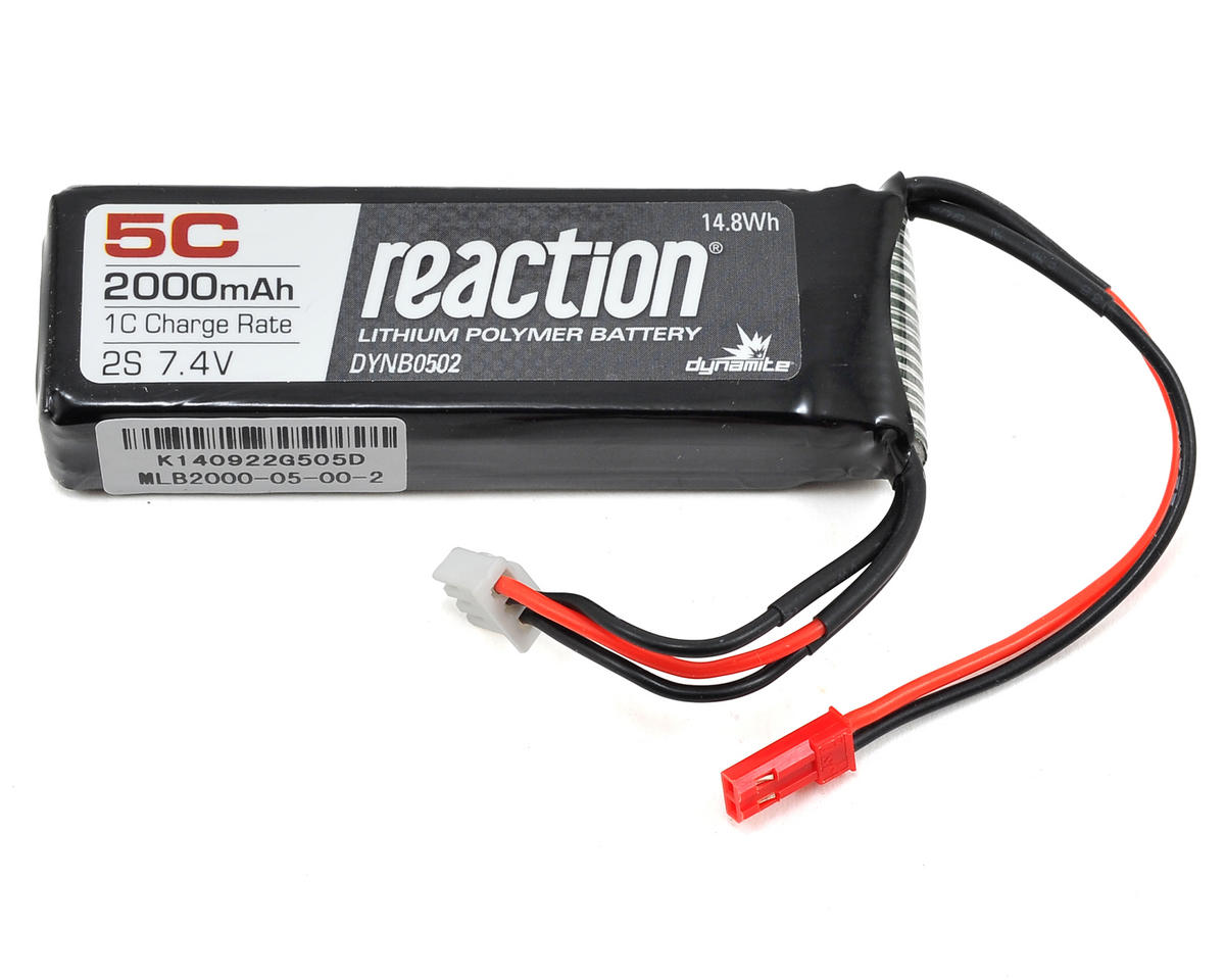 Dynamite Reaction 2S 5C LiPo Receiver Pack (7.4V/2000mAh)