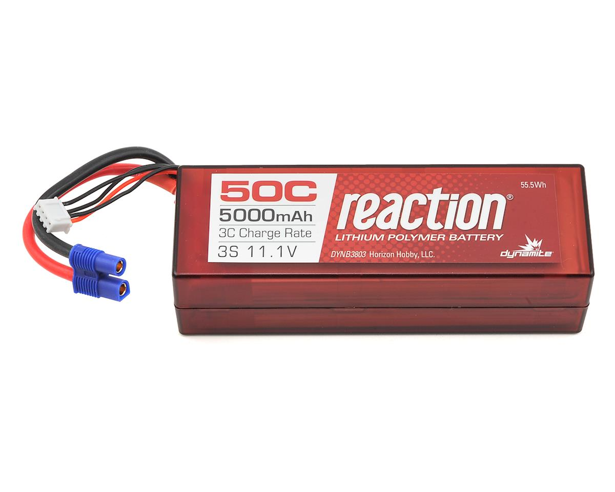 Reaction 3S 50C Hard Case LiPo Battery w/EC3 Connector (11.1V/5000mAh) by Dynamite