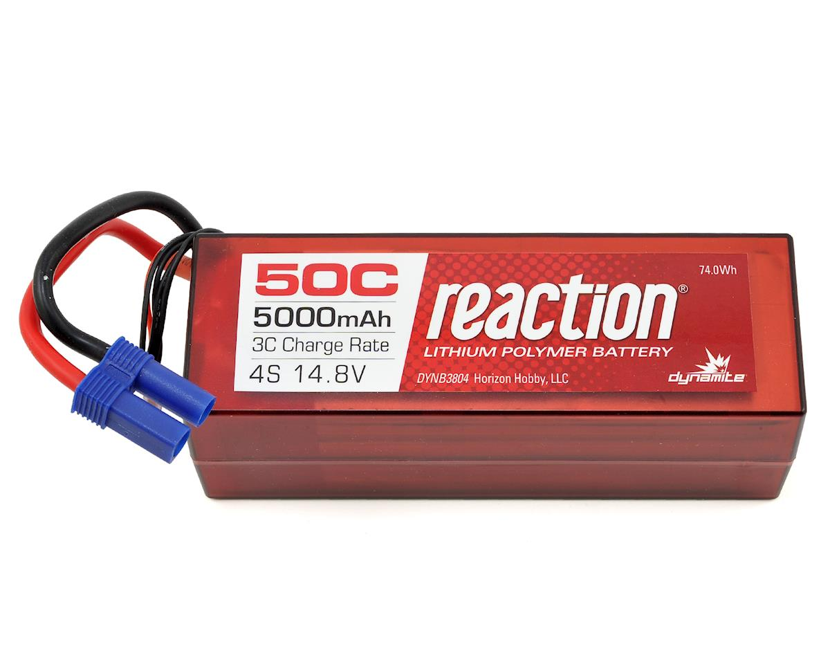 Dynamite Reaction 4S 50C Hard Case LiPo Battery w/EC5 (14.8V/5000mAh) (Losi Desert Buggy XL-E)