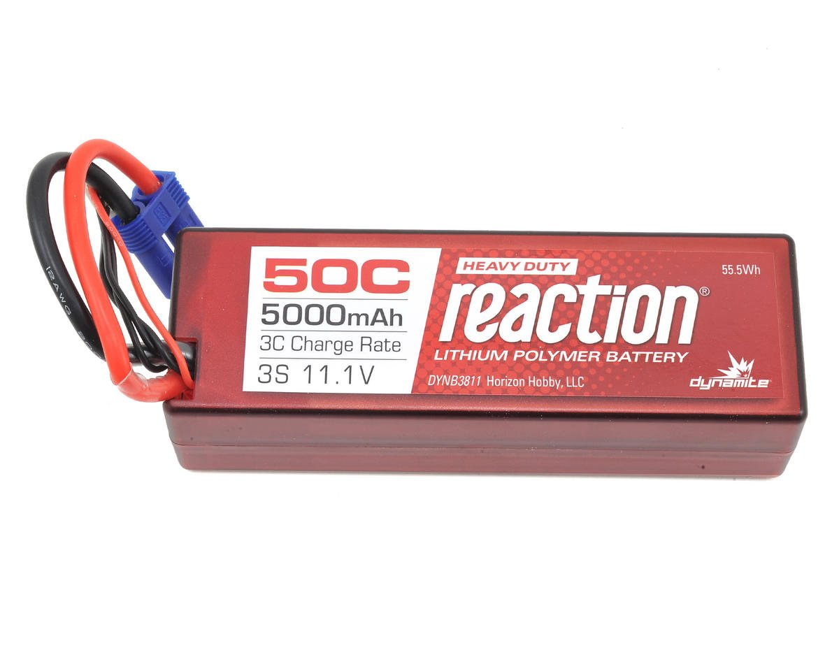 Reaction HD 3S 50C Hard Case LiPo Battery w/EC5 (11.1V/5000mAh) by Dynamite (Pro Boat Zelos 48)