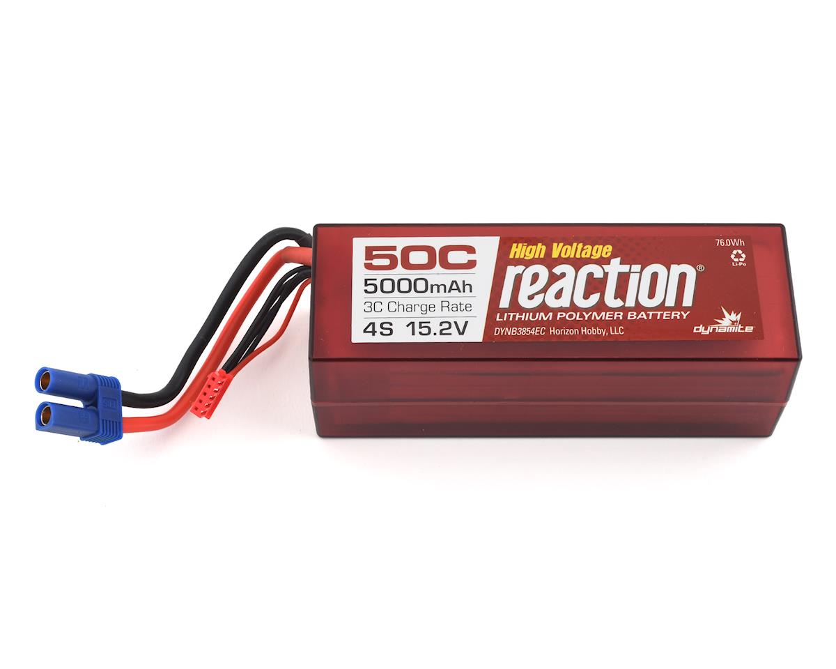 Dynamite Reaction HV 4S 50C Hard Case LiPo Battery w/EC5 (15.2V/5000mAh)