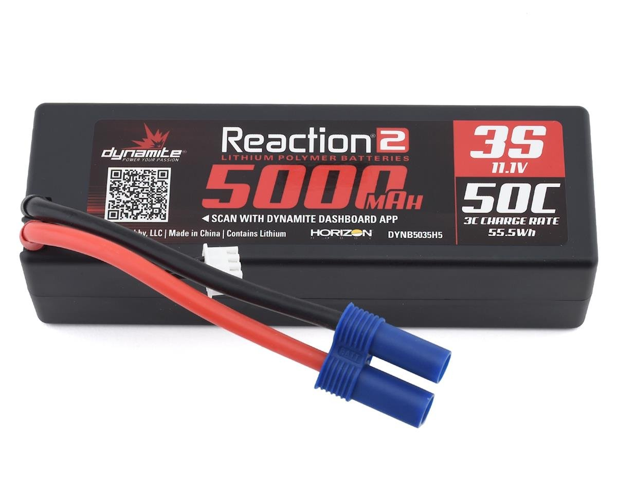 Dynamite Reaction 2.0 3S 50C Hardcase LiPo Battery w/EC5 (11.1V/5000mAh)