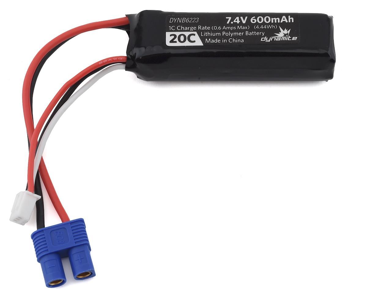 Dynamite 2S LiPo Battery Pack 20C (7.4V/600mAh) (Pro Boat Power Racer Deep V)