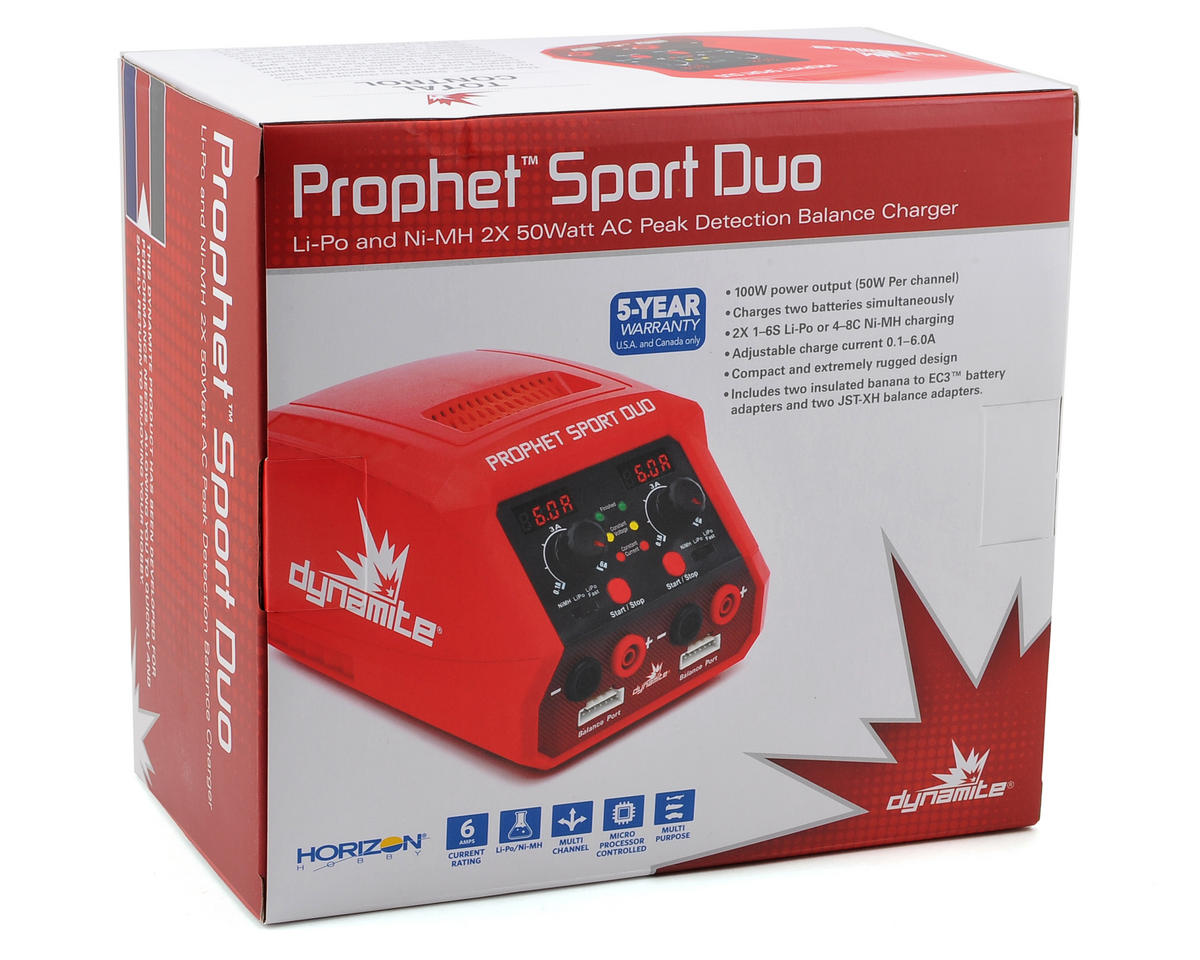 Dynamite Prophet Sport Duo AC Charger (6S/6A/50W x 2)