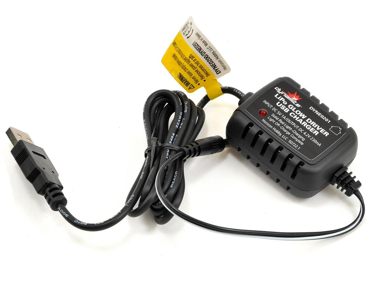 Dynamite LiPo Glow Driver w/USB Charger