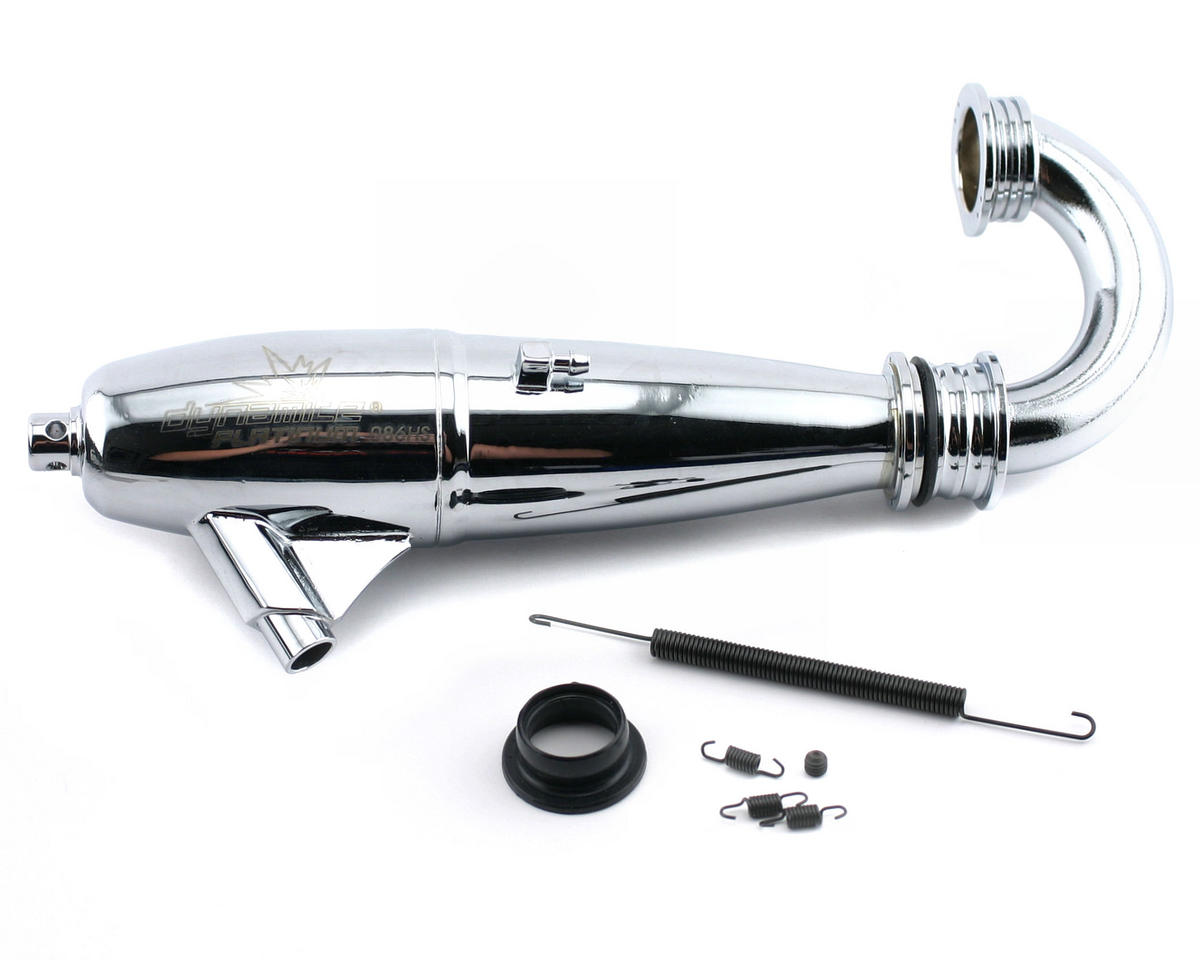 Dynamite Platinum 1/8 086 High Speed Inline Exhaust System (Polished)