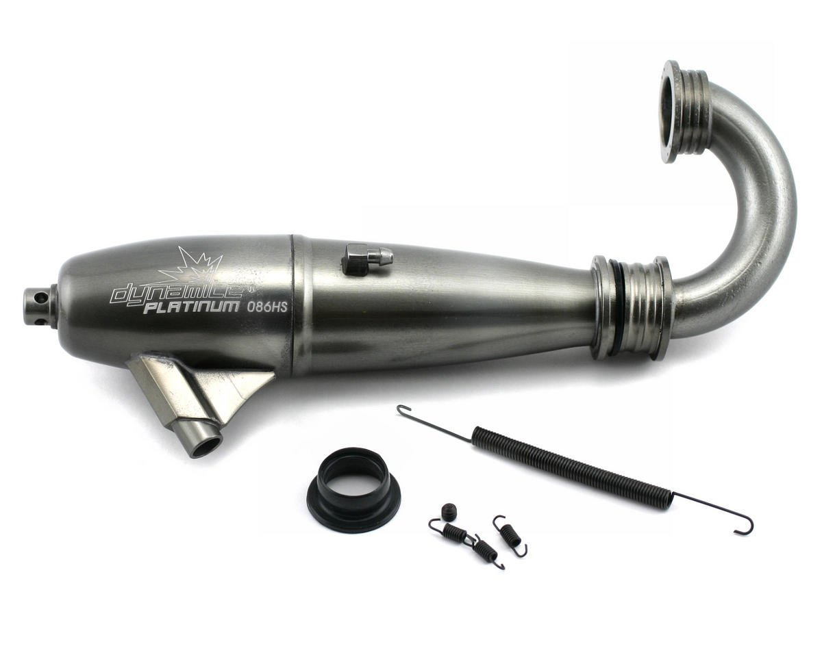 Platinum 1/8 086 High Speed Inline Exhaust System (Hard Anodized) by Dynamite