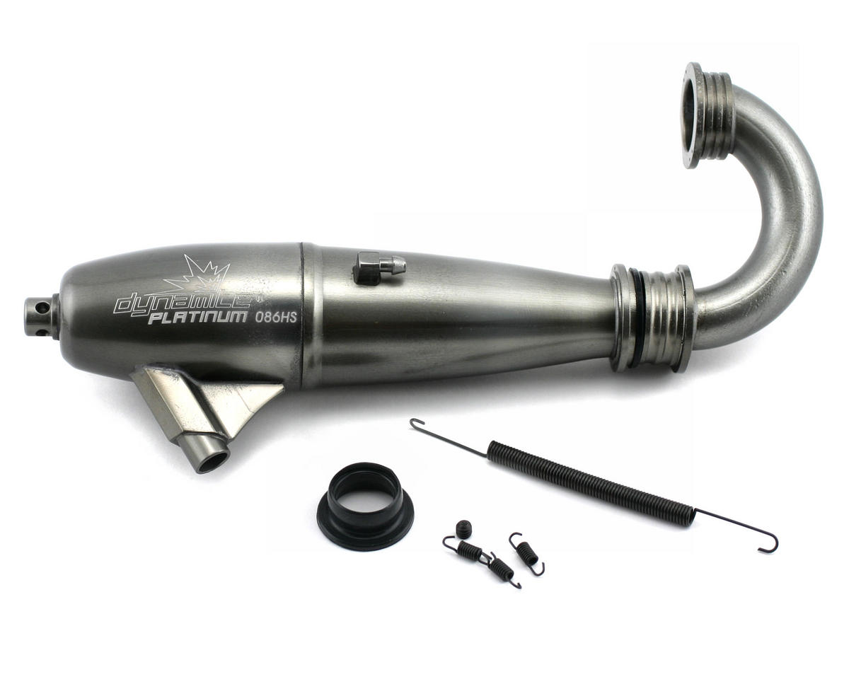 Dynamite Platinum 1/8 086 High Speed Inline Exhaust System (Hard Anodized)