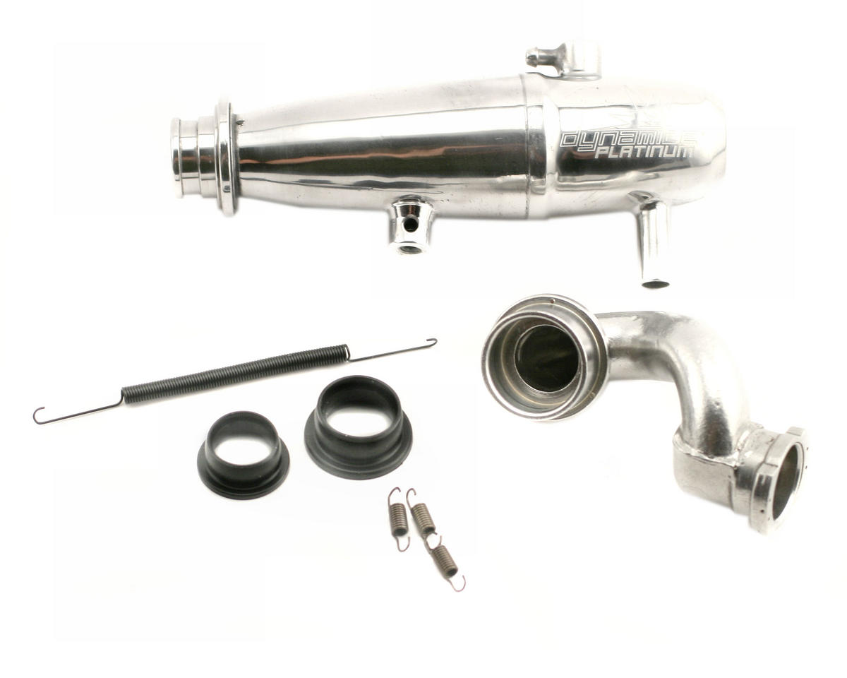 Dynamite Platinum 1/10 Revo Power Inline Exhaust System (Polished)