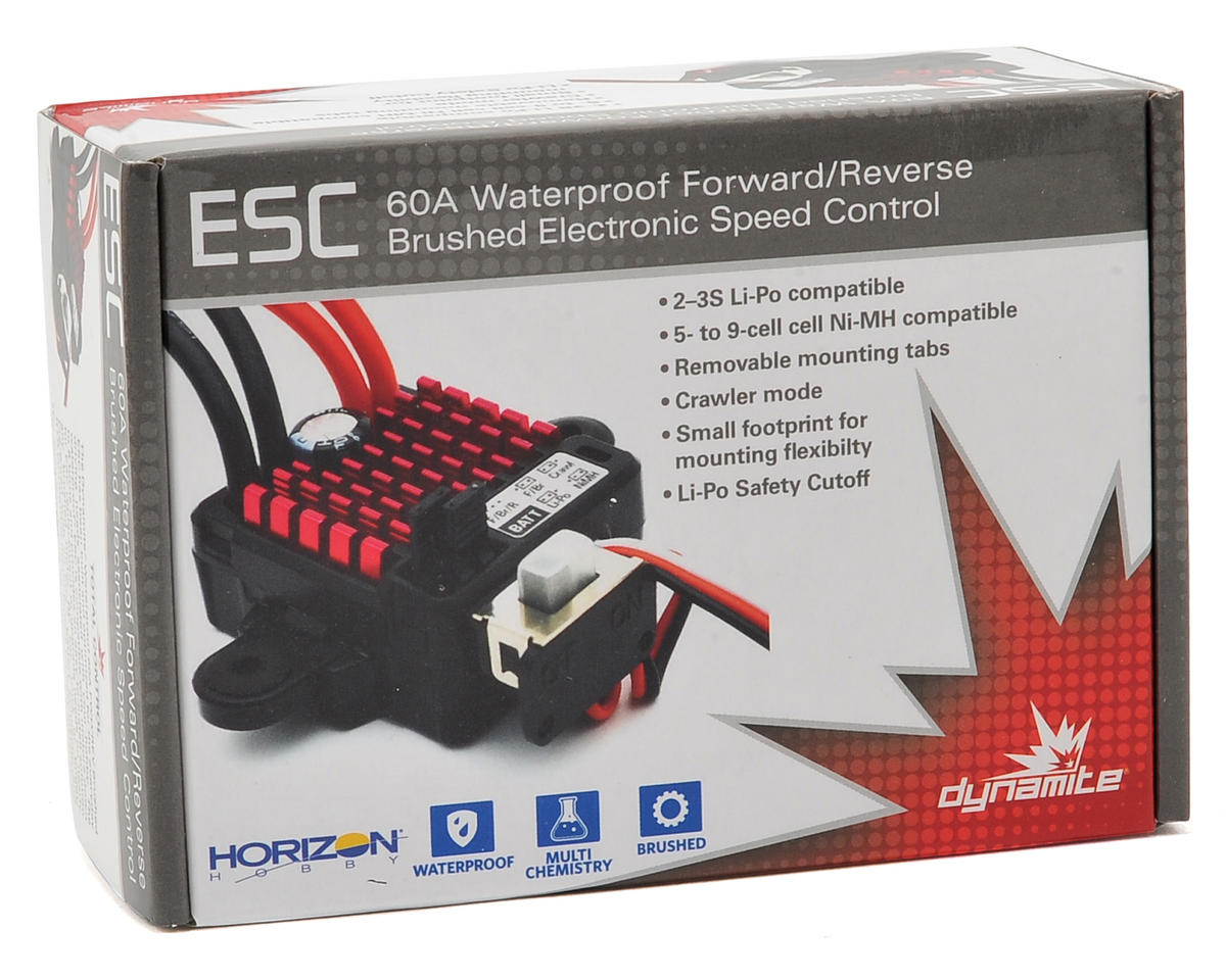 Dynamite Waterproof 60A FWD/REV Brushed ESC