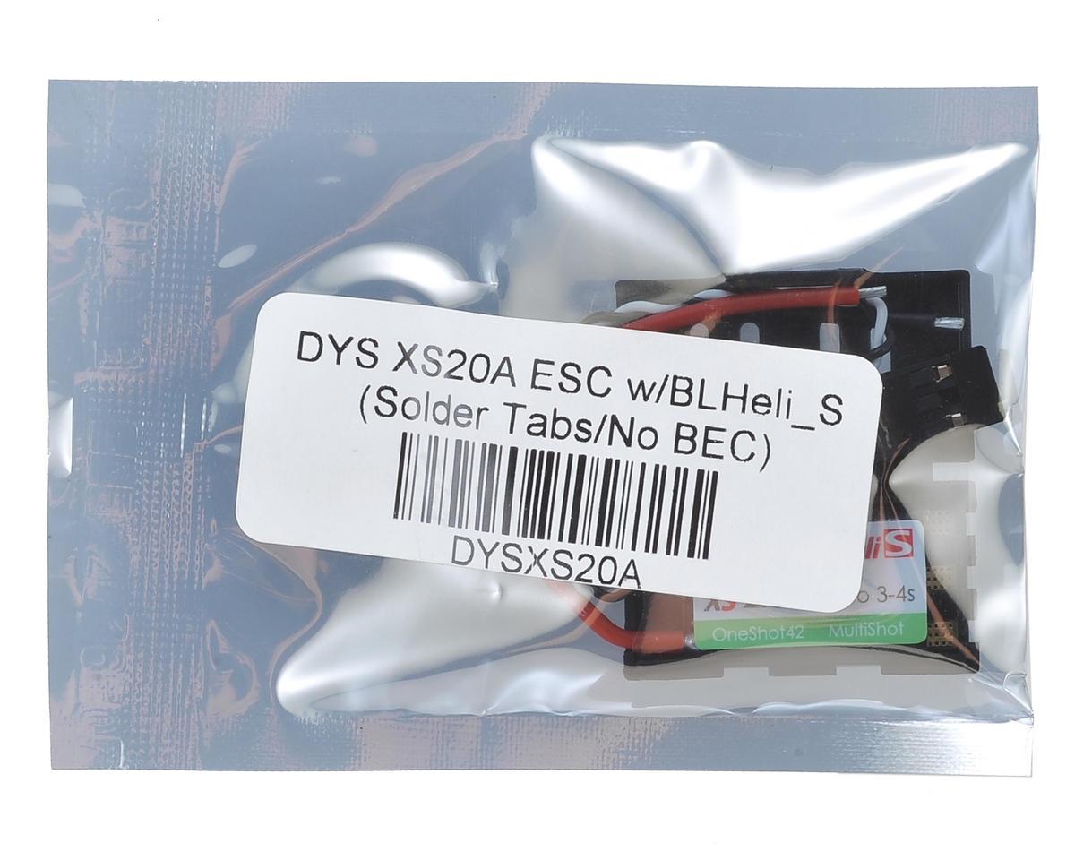 DYS XS20A ESC w/BLHeli_S (Solder Tabs/No BEC)