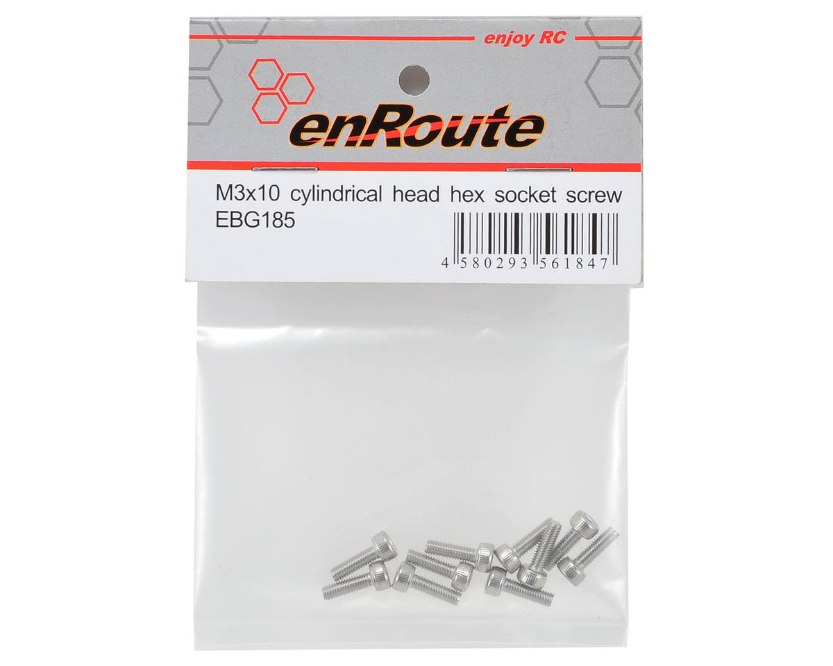enRoute 3x10mm Stainless Steel Cap Head Screw (10)